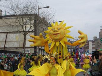 Sonnenschein bei der Parade in Dublin ;-)