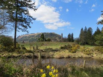 Klostersiedlung in Glendalough.