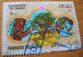 Olibanum Weihrauch Ernte Oman Briefmarke