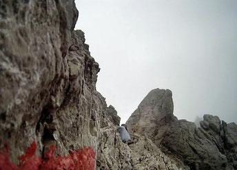 Felsen Steine Passage Alpen Österreich Memminger Hütte Zams