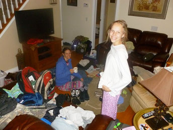 Unpacking from Nigeria & re-packing for our tour of the USA