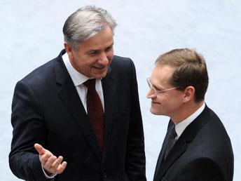 Michael Müller erzielte überraschend bereits im ersten Wahlgang die absolute Mehrheit von 59,1 Prozent. Foto: Tim Brakemeier