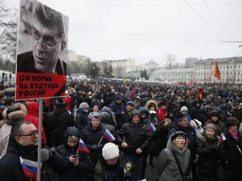 Der Marsch soll auch über die Große Moskwa-Brücke am Kreml führen. Foto: Sergei Ilnitsky