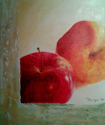 30 x 40 cm Acryl und Paste auf Leinwand