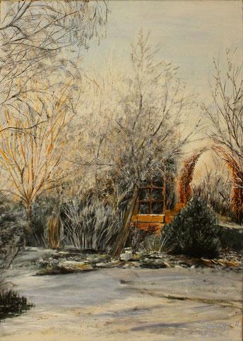 Winterlandschaft 50 x 70 cm Acryl auf Leinwand
