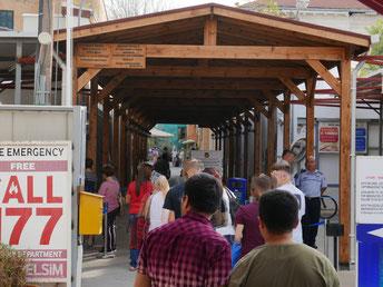 """Nicosia, Grenzübergang von """"Nordzypern"""" nach Zypern"""
