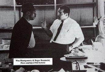 Roger Rossmeisl, hier im Gespräch mit Wes Montgomery