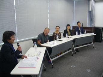 左から 吉村ゆうさん、羽原大介さんさん、今井雅子さん、中島由貴さん(NHK)、堀切園健太郎さん(NHK)
