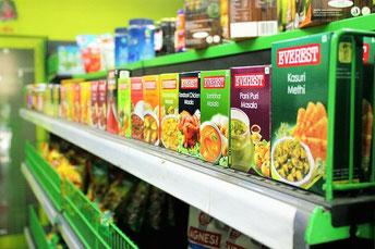 Supermarkt Verpackungen