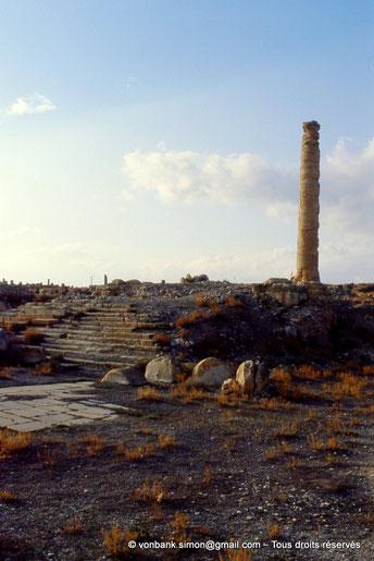 Haïdra (Ammaedara) : Place dallée et temple tétrastyle (forum et Capitole)