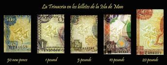 La Trinacria en los billetes de la Isla de Man