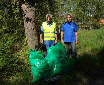 Ergebnis der NABU-Müllsammlung in Portitz. Foto: NABU Plaußig-Portitz