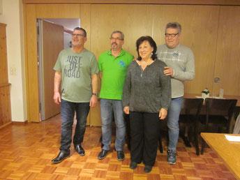 Der neue Vorstand: Heinz, Dani, Margrit, Marcel