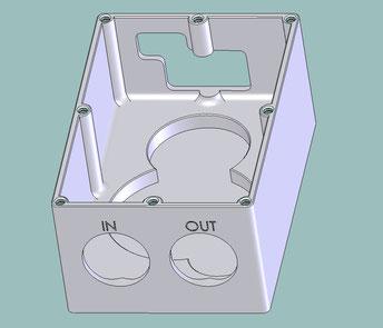 Gezeichnetes CAD-Modell für die additive Fertigung (3D Druck). Konstruktion von Modellen, Gehäusen, Objekten.