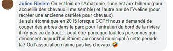 Commentaire d'un adjoint Mairie de Septeuil sur Facebook.