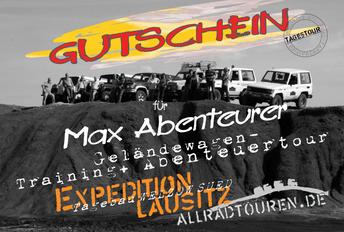 Abenteuer Off Road Gutschein- Geländewagentour Gutschein- Geschenkidee