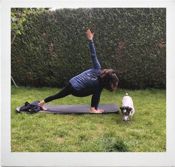 庭で運動きもちいい (勝手に撮られた)