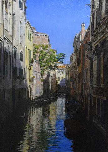 「妙なるベネチア」 油彩・板 35x25cm