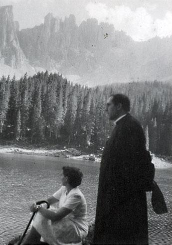 Don Giuseppe de Luca al Lago di Braies