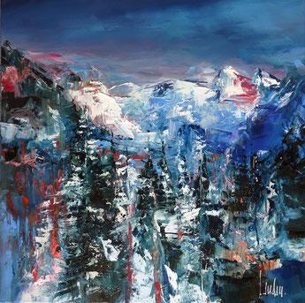 """""""Chamois d'azur"""" - 50x50 - En exposition"""