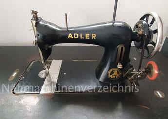 Adler Klasse 11, Geradstich-Nähmaschine mit Schwingschiffchen, Fußantrieb-Eisengestell, Baujahr ca. 1925, Hersteller: Kochs Adler Nähmaschinenwerke (Bilder: Dejan)