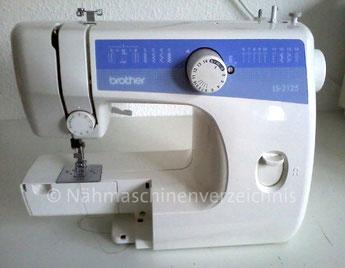 Brother LS 2125, Automatik-Freiarmnähmaschine mit Einbaumotor, Hersteller: Brother, China (Bilder: D. Schönenberger)