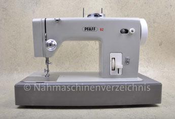 Pfaff 92, Flachbettnähmaschine mit Musterautomatik, Hersteller: G. M. Pfaff AG, Kaiserslautern, Baujahr 1964 (Bilder: Nähmaschinenverzeichnis)
