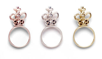 Crown Rings Emma Hedley Jewellery rose gold, silver, yellow gold