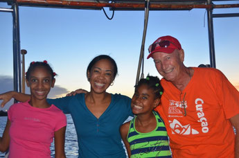 Julianny, Johanny, Eileen & Frans / Spanish Water, Curacao, 6. November 2013