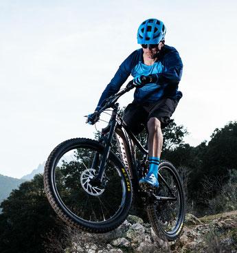 e-Mountainbikes und Ausstattung können Sie in der e-motion e-Bike Welt in Halver vergleichen, ausprobieren und kaufen