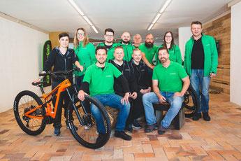Das e-motion e-Bike Team in Worms