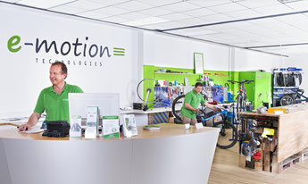 Die e-motion e-Bike Welt in Bielefeld