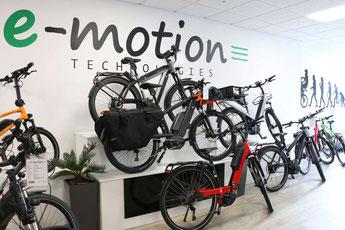 e-Bike Auswahl in der e-motion e-Bike Welt Herdecke