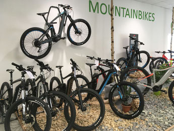 Giant e-Mountainbikes in der e-motion e-Bike Welt in Bremen