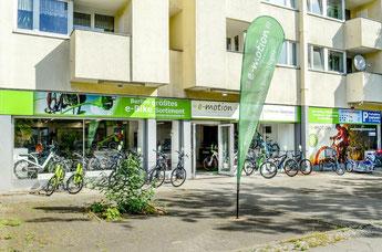 e-Bike Auswahl in der e-motion e-Bike Welt Berlin-Steglitz