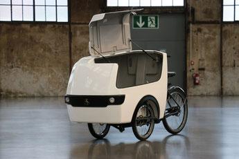 Babboe Pro Trike XL mit geöffneter Türe