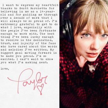 Taylor Swift Announces New Record Deal On Tumblr and Instagram
