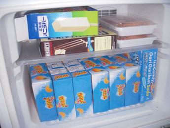 冷凍庫 アイスだらけ・・・