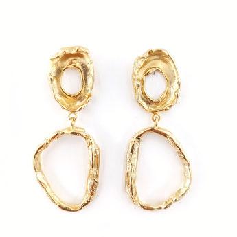 """Ohrringe aus der Serie """"Liquid Gold"""" von Caroline Ertl - Atelier STOSSIMHIMMEL"""