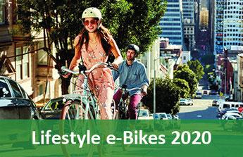 Lifestyle e-Bikes, Pedelecs und 45km/h S-Pedelecs 2019