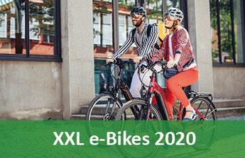 XXL e-Bikes, Pedelecs und 45km/h S-Pedelecs 2019