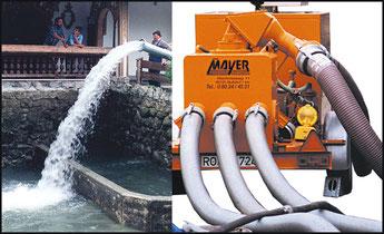 Wasserpumpe bei Reparaturen, Kanalservice Mayer Nußdorf