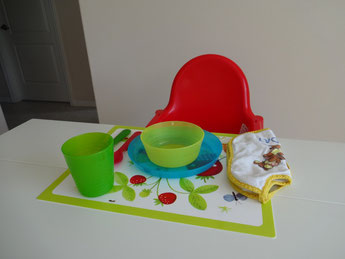 Villa Catch the Sun - Highchair and kid's tableware