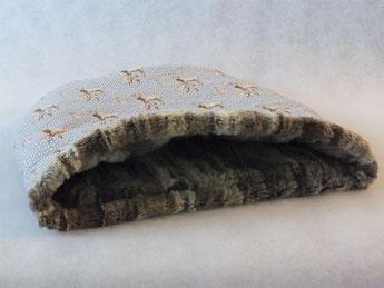 Katzenschlafsack 'Hirsche grau'