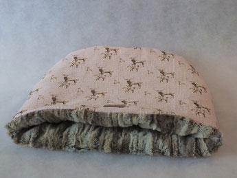 Katzenschlafsack 'Hirsche rosa'