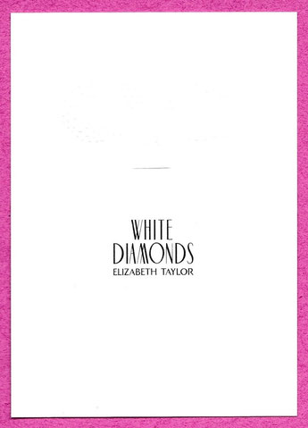 GRANDE CARTE GAUFFREE ELIZABETH TAYLOR : WHITE DIAMONDS