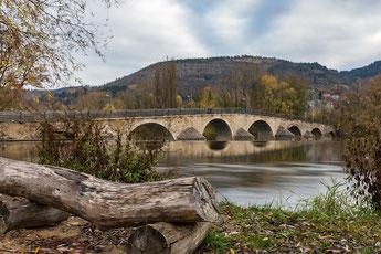 Die Saalebrücke bei Burgau / Jena
