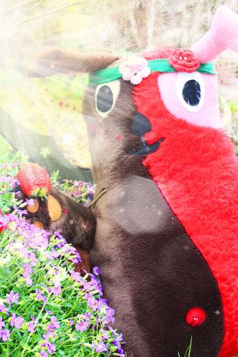 Wampel liebt Erdbeeren und Kinder
