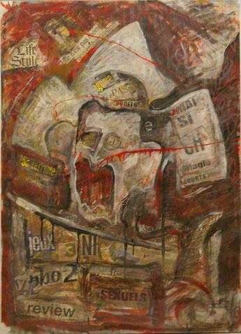 Acrylique sur papier 97 x 68