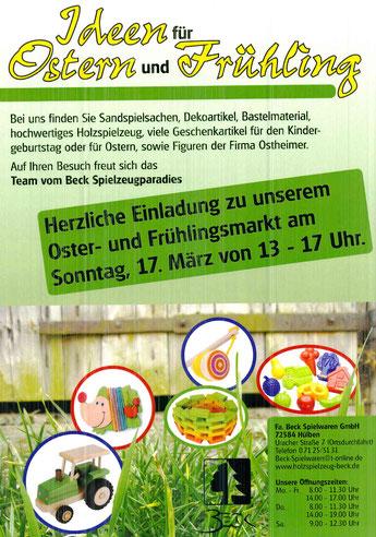 Einladung zum Oster- und Frühlingsmarkt